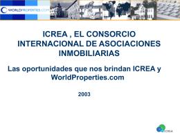 ICREA, El Consorcio Internacional de Asociaciones Inmobiliarias