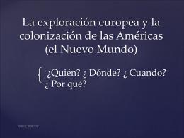 La exploración europea