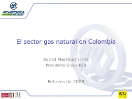 El sector gas natural en Colombia