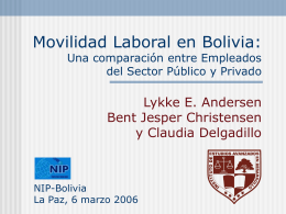 Worker Mobility in Bolivia: On-the-job search behavior of