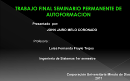 PROYECTO DE VIDA JOHN JAIRO MELO