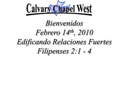 Philippians 2:1 – 4 - Calvary Chapel West