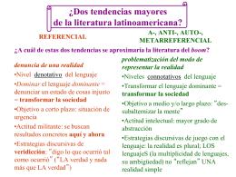¿Dos tendencias de la literatura latinoamericana?