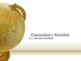 Comunidad y Sociedad - Area de Filosofia Social