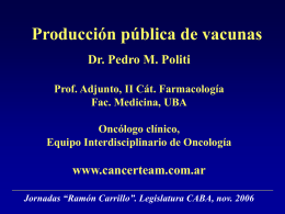 Producción pública de vacunas