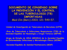 Doc consenso TB importada - Agència de Salut Pública de