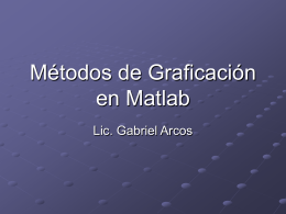 Métodos de Graficación en Matlab
