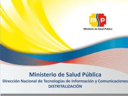 TIC`s - Ministerio de Salud Pública