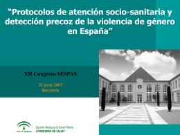 Protocolos de atención socio-sanitaria y detección precoz