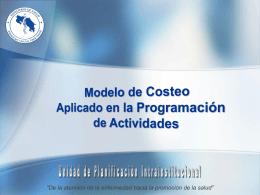 Anexo 2.5.29 Modelo de Costeo en la Programacion de Actividades