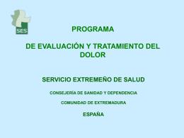 PROGRAMA DE EVALUACIÓN Y TRATAMIENTO DEL DOLOR