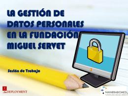 Manual de Seguridad Fundación Miguel Servet