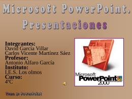 Configurar la página. Tema 3: PowerPoint 9