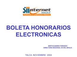 Boleta de Honorarios Electrónica