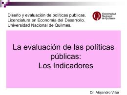 Los indicadores de calidad. - Universidad Nacional de Quilmes