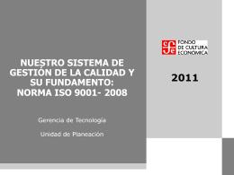 Curso Norma ISO 9001:2008 - Fondo de Cultura Económica