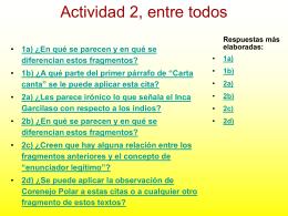 Claves de la actividad 2