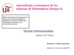 Temas transversales - Universidad de Sevilla