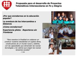 Presentación Proyectos telemáticos interescolares