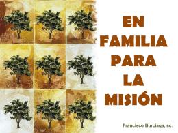 EN FAMILIA PARA LA MISIÓN
