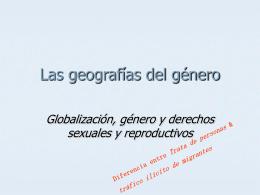 Las geografías del género
