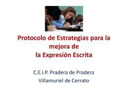 Protocolo de Estrategias para la mejora de la Expresión Escrita