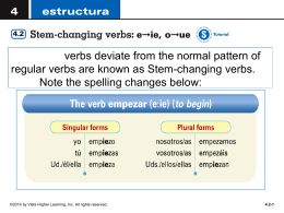 There is no stem change for nosotros/as