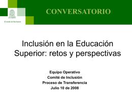 Inclusión en la Educación Superior: retos y perspectivas
