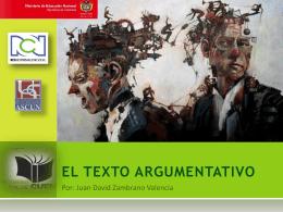 EL TEXTO ARGUMENTATIVO, 2 (1965056)