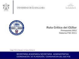 Ruta Crítica - Centro Universitario del Sur