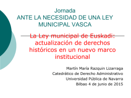 Presentación de Martín Razquin Lizarraga