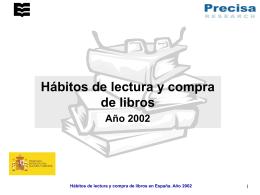 Hábitos de lectura y compra de libros en 2002