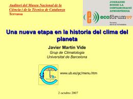 Cambio climático y riesgos