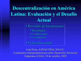 Descentralización en América Latina: cómo conciliar Eficiencia con