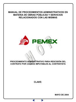 procedimiento administrativo para rescisión del contrato por causas