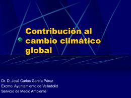 Contribución al cambio climático global