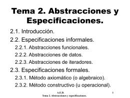 Abstracciones y especificaciones