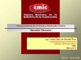 Ing. Jorge Diez de Bonilla. Vicepresidente de Vivienda y Desarrollo