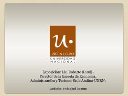 Presentación Lic. Roberto Kozulj