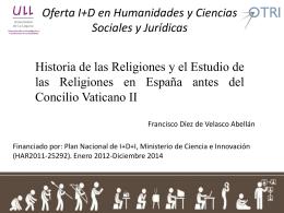 Oferta I+D en Humanidades y Ciencias Sociales y Jurídicas