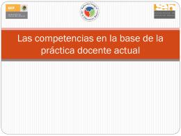 Las competencias en la base de la práctica docente