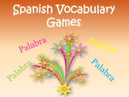 Spanish Vocabulary Games - The Organized Classroom Blog