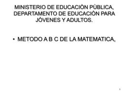 GUÍA DIDÁCTICA ABC DE LA MATEMÁTICA.
