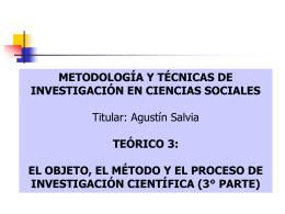 el objeto, el método y el proceso de investigación científica iii