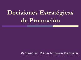 Decisiones Estratégicas de Promoción