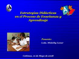 Estrategias Didácticas en el Proceso Enseñanza y Aprendizaje
