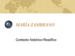 María Zambrano. Contexto - IES JORGE JUAN / San Fernando