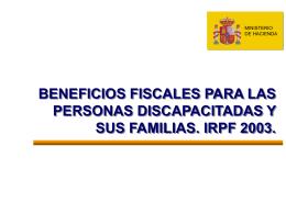 Beneficios fiscales para las personas con discapacidad y sus