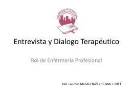 Entrevista y Dialogo Terapéutico