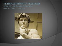 EL RENACIMIENTO ITALIANO - Facultad de Arquitectura y Urbanismo